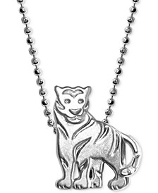 "Mini Tiger 16"" Pendant Necklace in Sterling Silver"