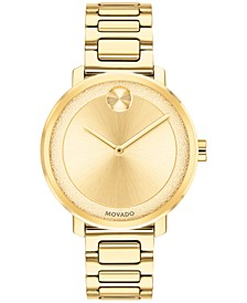 Women's Swiss BOLD Gold-Tone Stainless Steel Bracelet Watch 34mm
