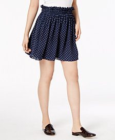 Maison Jules Dot-Print Pull-On Mini Skirt, Created for Macy's