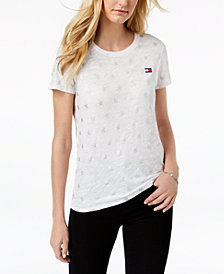Tommy Hilfiger Sport Metallic-Star T-Shirt, Created for Macy's