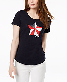 Tommy Hilfiger Star Logo Graphic T-Shirt, Created for Macy's