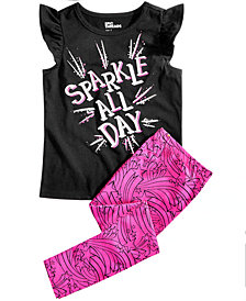 Epic Threads Little Girls Graphic-Print T-Shirt & Star-Print Leggings, Created for Macy's