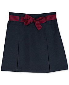 Nautica Big Girls Plus Pleated Scooter Skirt