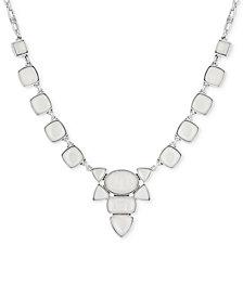 "Lucky Brand Silver-Tone Stone Collar Necklace, 17-1/2"" + 2"" extender"