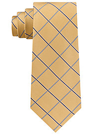 Club Room Men's Oxford Grid Silk Tie, Created for Macy's