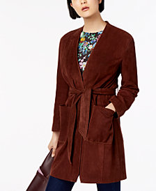 Weekend Max Mara Acro Belted Suede Jacket