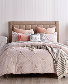 Peri Home Chenille Scallop Queen Duvet Cover