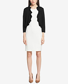 Tommy Hilfiger Ruffled 3/4-Sleeve Shrug
