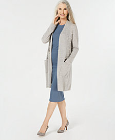 Charter Club Pure Cashmere Pearl Detail Long Cardigan Sweater, Created for Macy's
