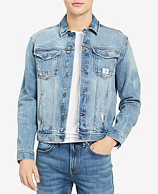 Calvin Klein Jeans Men's Festival Trucker Stretch Denim Jacket