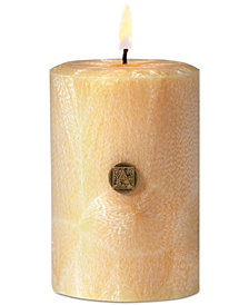 "Aromatique Agave Pineapple 3"" Feather Pillar Candle"
