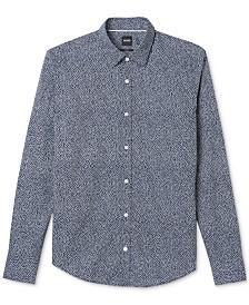 BOSS Men's Slim-Fit Cotton Flower Print Sport Shirt