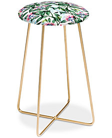 Deny Designs 83 Oranges Floral Cure Counter Stool