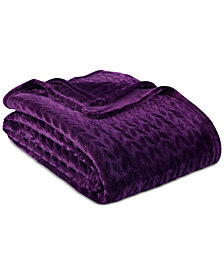 """Berkshire VelvetLoft Braid 108"""" x 90"""" Blanket"""