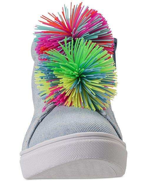 c508952b26a ... Steve Madden Little Girls  JBRENDIE High Top Sneakers from Finish ...