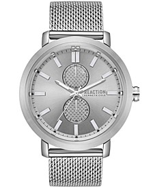Men's Silver-Tone Mesh Bracelet Watch 45mm