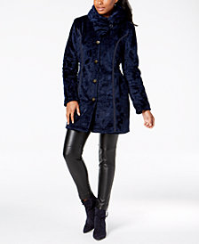 Laundry by Shelli Segal Faux-Fur Reversible Coat