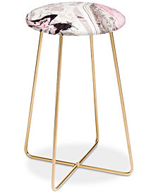 Deny Designs Marta Barragan Camarasa Pink and Gray Counter Stool