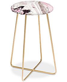 Deny Designs Marta Barragan Camarasa Pink and Gray Counter Stool