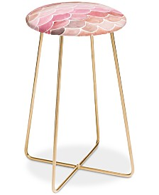 Deny Designs Wonder Forest Pink Mermaid Scales Counter Stool