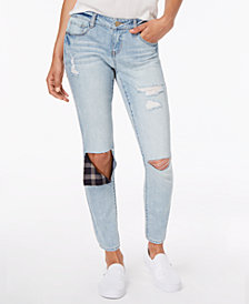 Dollhouse Juniors' Rip & Repair Ankle Skinny Jeans