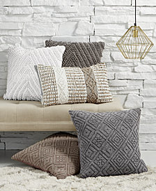 Lacourte Handwoven Textured Decorative Pillow Collection, Created for Macy's