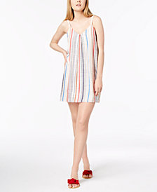 1.STATE Multicolor Striped Woven Shift Dress