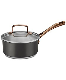 Onyx Black & Rose Gold Stainless Steel 1.5-Qt. Saucepan & Cover