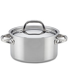 Anolon Tri-Ply Clad Stainless Steel 2-Qt. Saucepan & Lid