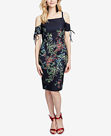 RACHEL Rachel Roy Floral-Print Cold-Shoulder Midi Dress