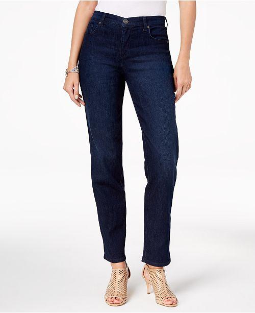 06f014bcb8f ... Style   Co Tummy-Control High Rise Straight-Leg Jeans