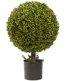 "Nearly Natural 27"" Boxwood Ball Topiary Artificial Plant"