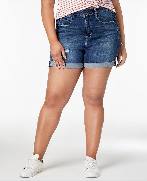 Seven7 Jeans Seven7 Trendy Plus Size Denim Shorts