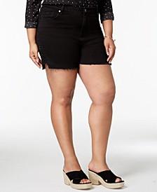 Seven7 Trendy Plus Size Studded Denim Shorts
