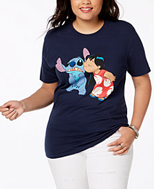 Disney Plus Size Cotton Lilo & Stitch T-Shirt