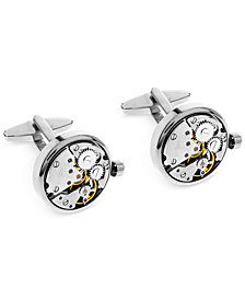 Sutton by Rhona Sutton Men's Clock Gears Cufflinks