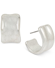 Robert Lee Morris Soho Small Silver-Tone Huggie Hoop Earrings