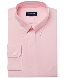 Club Room Men's Slim Fit Performance Easy-Care Oxford Solid Dress Shirt, Created for Macy's