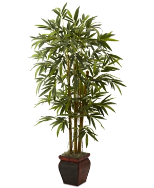 Nearly Natural 55 Artificial Bamboo Tree in Decorative Planter