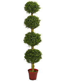 Nearly Natural 6' Boxwood 4-Tier Topiary UV-Resistant Indoor/Outdoor Artificial Tree