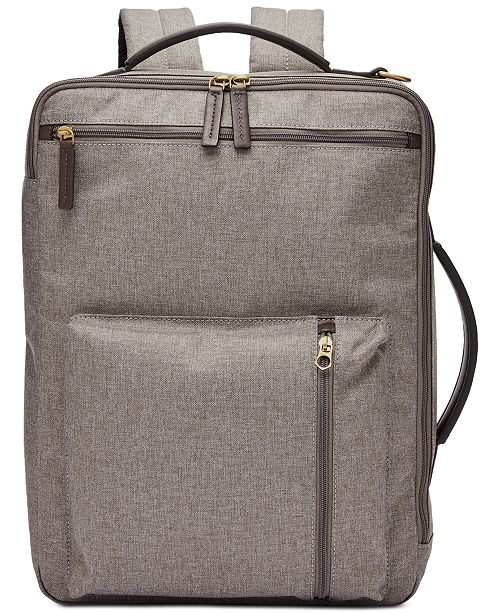 Fossil Men s Buckner Briefcase Backpack  Fossil Men s Buckner Briefcase  Backpack ... 79f57a42cb5a0