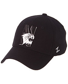 Zephyr Northwestern Wildcats Black/White Stretch Cap