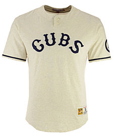 Mitchell & Ness Men's Chicago Cubs Sealed The Victory Henley T-Shirt