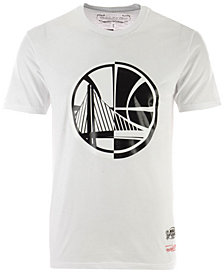 Mitchell & Ness Men's Golden State Warriors Black/White Split T-shirt