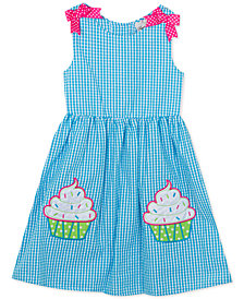 Rare Editions Little Girls Cupcake Gingham Seersucker Dress