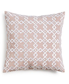 """CLOSEOUT! Hotel Collection Embroidered 22"""" Square Decorative Pillow, Created for Macy's"""