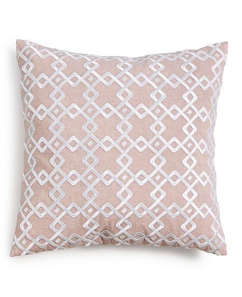 "Hotel Collection  CLOSEOUT! Embroidered 22"" Square Decorative Pillow, Created for Macy's"