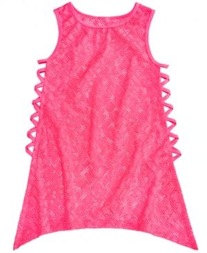 Summer Crush Big Girls Crochet Swim CoverUp