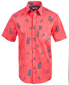 Univibe Men's Stark Pineapple Print Shirt