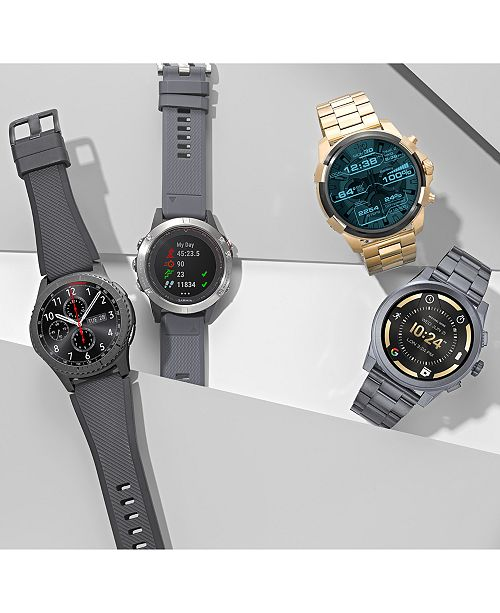 Samsung Gear S3 frontier Smart Watch with Stainless Steel Case & Black Silicone Strap ...
